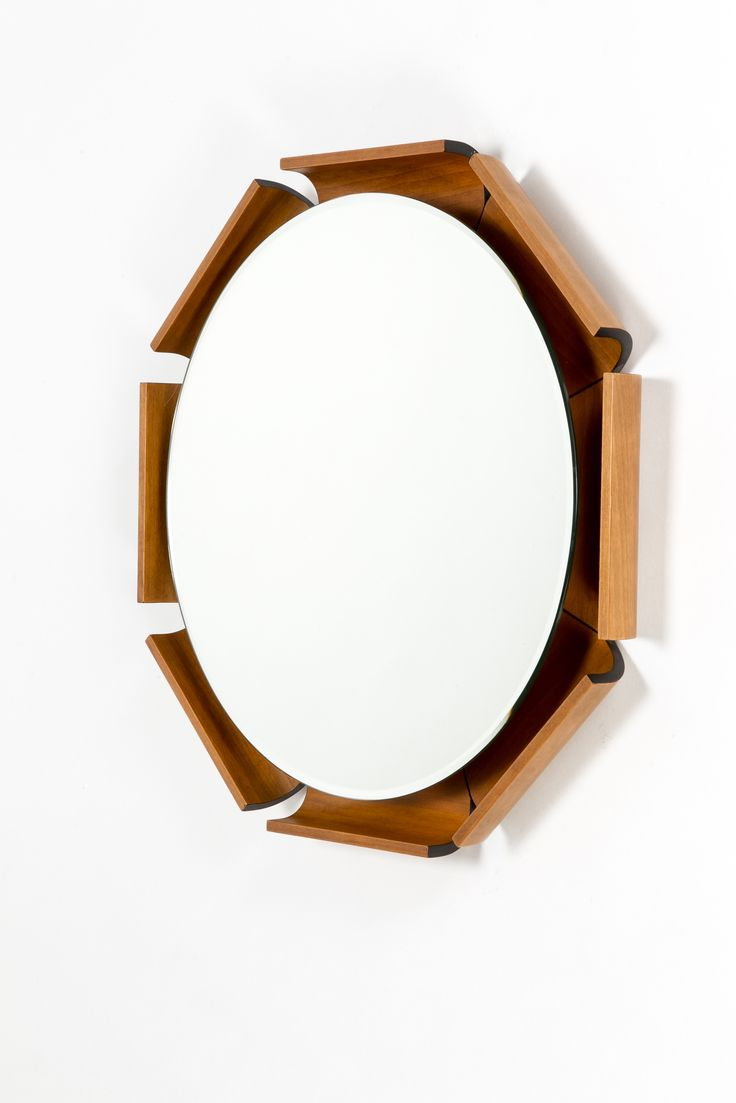 Decorative Wall Mirror Lamps Plus : Mirrors home decor italian walnut wall mirror lamp