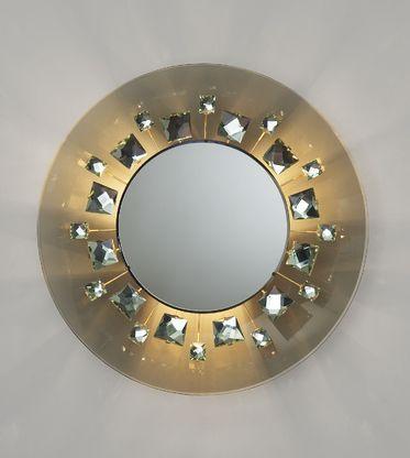 MAX INGRAND, illuminated mirror, model 2044, Fontana Arte, Italy, 196