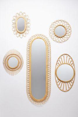 Midcentury Wicker Mirror...