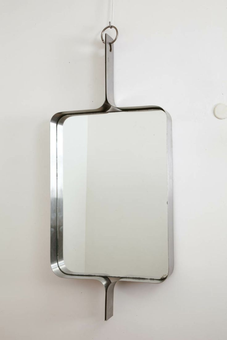 Rectangular Steel Mirror By Michel Boyer, Circa 1970. image 2