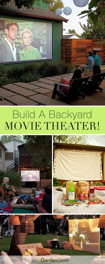 Build A Backyard Movie Theater This Summer! • Lots of great Ideas & Tutori...