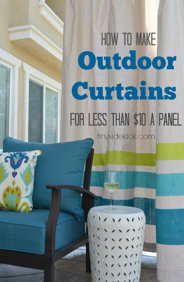 DIY Porch and Patio Ideas - How to Make Outdoor Curtains - Decor Projects and Fu...