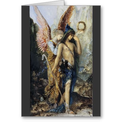 The Voices Watercolor by Gustave Moreau | Zazzle.com