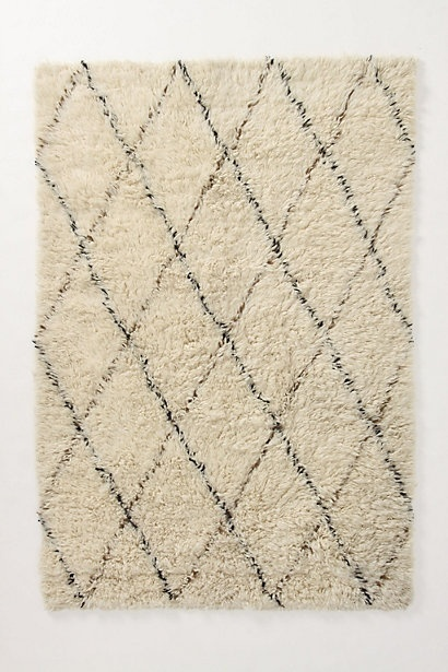 Flokati diamonds rug. A version of this puppy was in Domino mag like a billion...