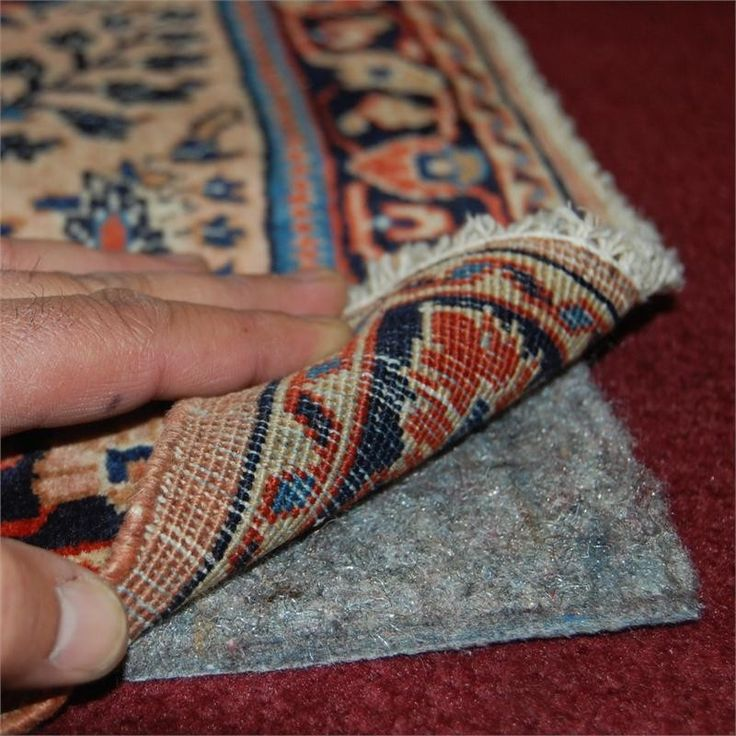 Best rug pad for area rugs on top of carpet. This will finally stop the bunching...