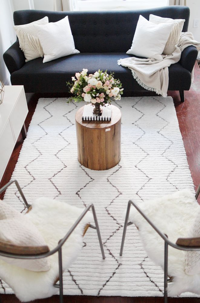 rugs home decor living room makeover by the blondie. Black Bedroom Furniture Sets. Home Design Ideas