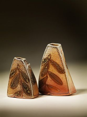 Cathi Jefferson  |  Small hand-built porcelain vases, with