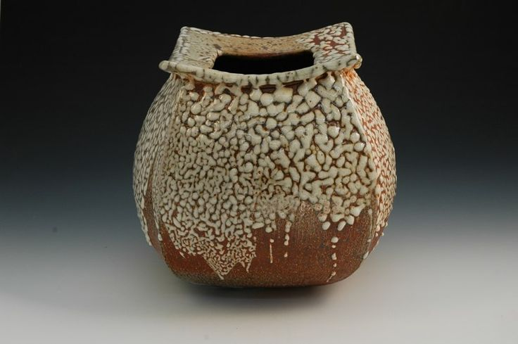 crawl shino on squares off vase, David Cuzick