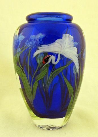 Vases Home Decor Daniel Salazar Vase White Crane With Iris