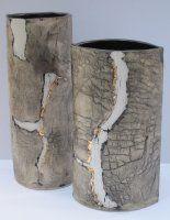 Fissure lustre vases by Jeremy White Ceramics