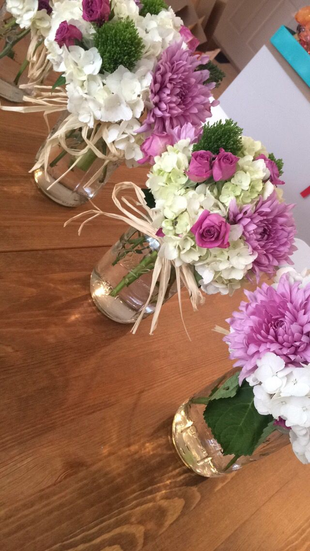 Engagement Party center pieces I made. They are perfect for an outside event or ...