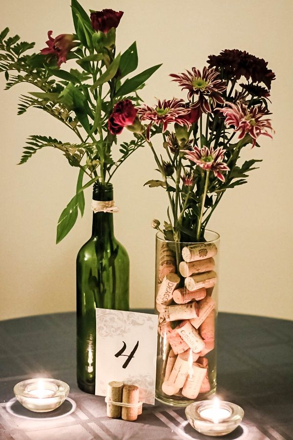 wedding decorative bottles if youre throwing a wine themed wedding heres a cheap center piece id