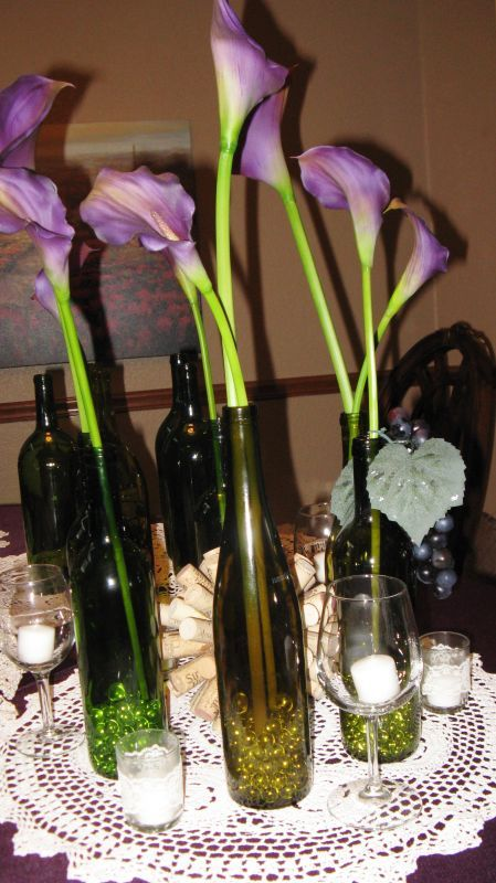 Wedding decorative bottles rough draft wedding centerpieces wedding decorative bottles rough draft wedding centerpieces wedding calla lilies calla lily cork doily e junglespirit Choice Image