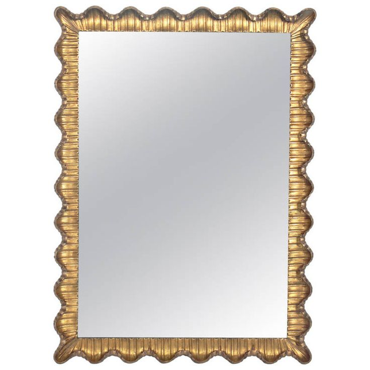 Mirrors home decor venetian scalloped mirror from a for Decorative objects for home