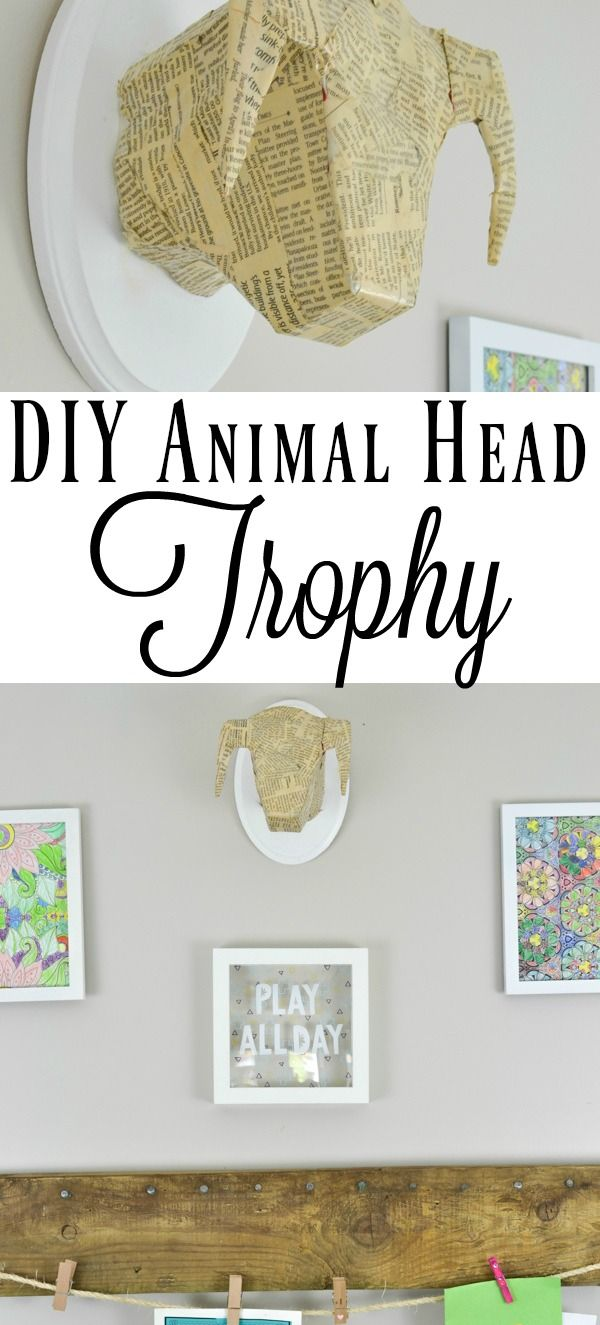 This is the easiest way to make a DIY faux animal head without any paper mache a...