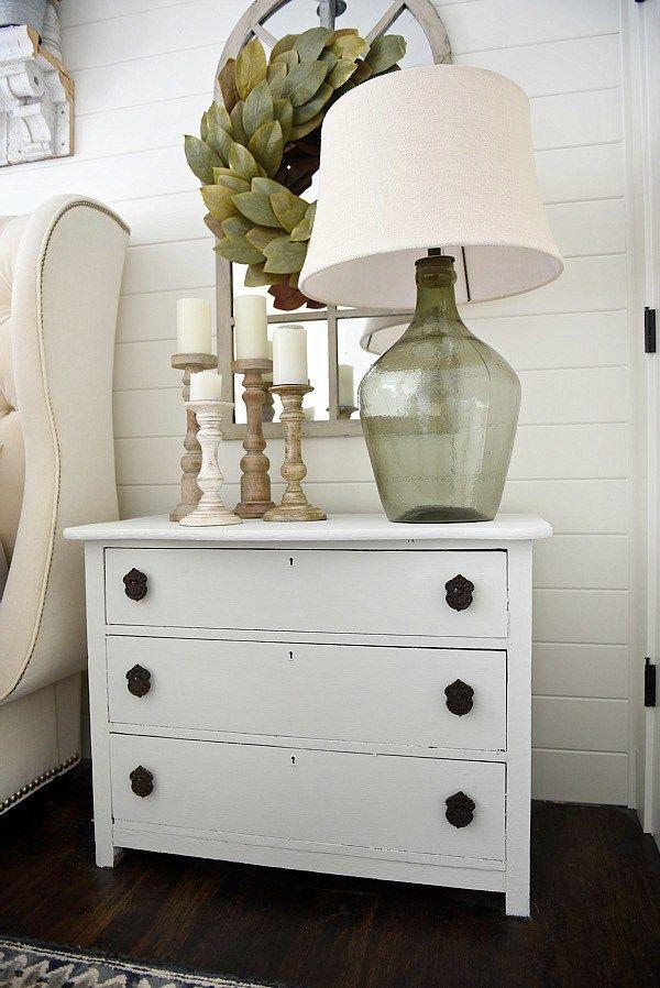 Furniture Bedrooms Neutral Master Bedroom Nightstand
