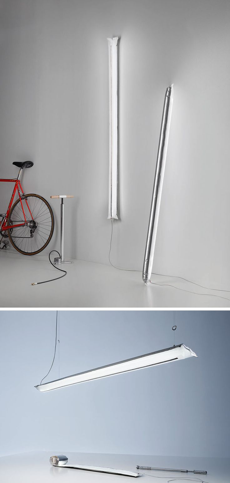 Theo Möller And Ingo Maurer Have Designed An Inflatable LED Lamp
