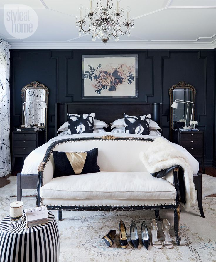 Furniture - Bedrooms : Black and white bedroom - Decor Object   Your ...