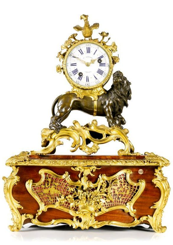 A Louis XV ormolu and patinated bronze mantel clock, French, circa 1745 on an as...