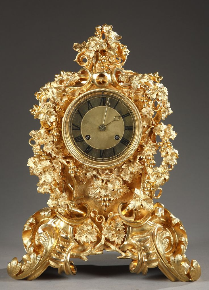 Antique clocks mid 19th century french rococo style for French rococo style