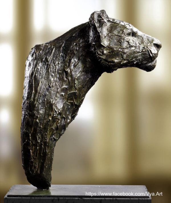 High quality foundry bronze Cats sculpture by artist Artist Vya titled: 'The...