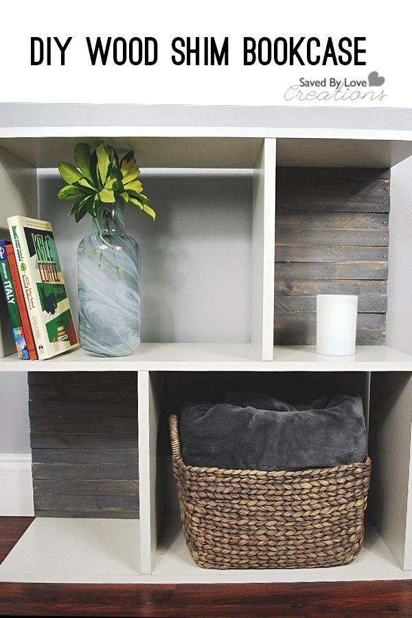 Decor Diy Inspiration Diy Wood Shim Bookcase Decor