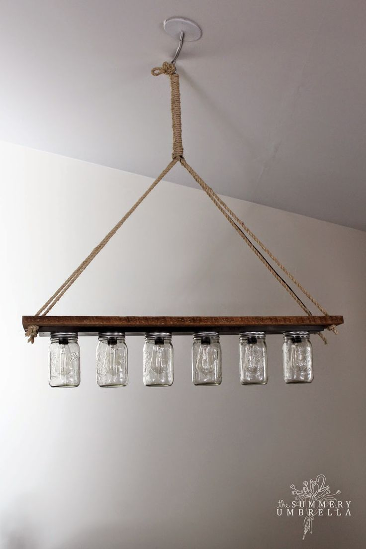 Decor diy inspiration mason jar chandelier with edison for Diy edison light fixtures