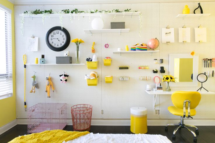 Decor DIY Inspiration: Mr. Kate - DIY Pegboard Wall - Decor Object ...