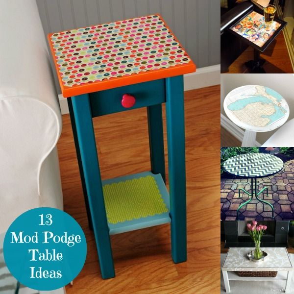 decor hacks 13 mod podge table ideas you 39 ll love decor object your daily dose of best. Black Bedroom Furniture Sets. Home Design Ideas