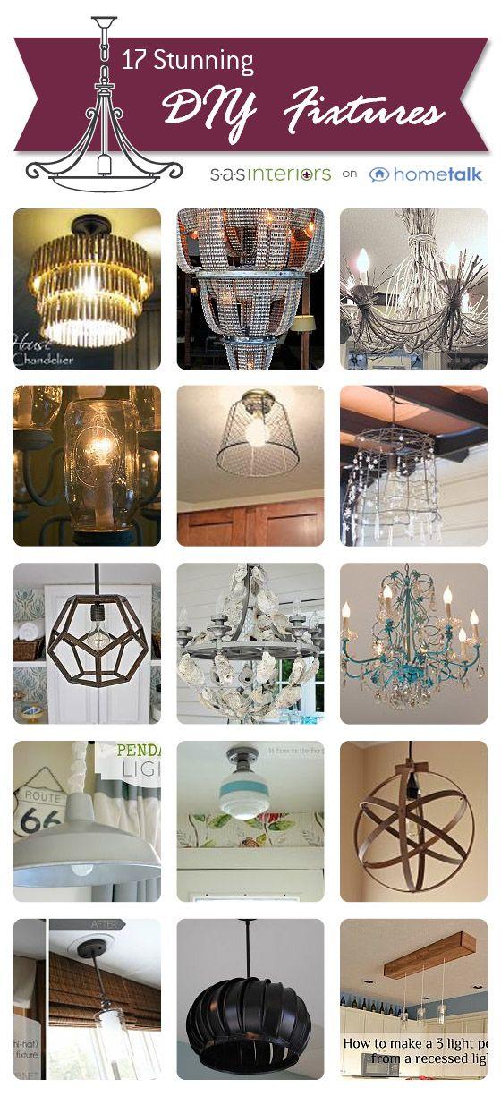 17 Stunning DIY Lighting Fixtures chosen by @Jenna_Burger of SASinteriors.net, f...