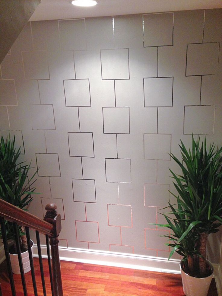 Decor Hacks : Aluminum Tape Feature Wall
