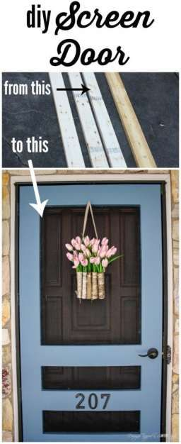 Decor Hacks Awesome Build Your Own Diy Screen Door With This