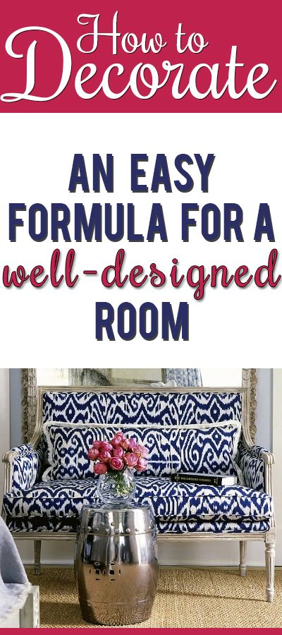 Finally!! An actual formula you can follow to create a well-designed room! Easy ...
