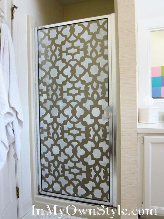 how to - stencil a shower door