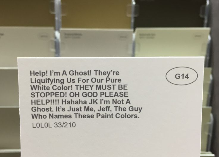 Shopping For Paint Just Got Interesting Thanks To One Man's Creative Name Ch...