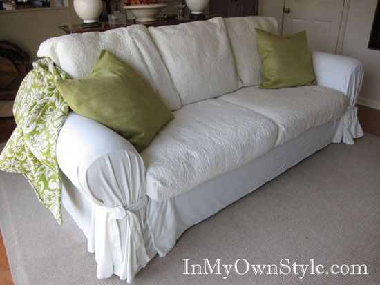 Decor Hacks Sofa Slipcover From Ugly So Decor Object