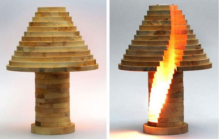 Wooden lamp DIY