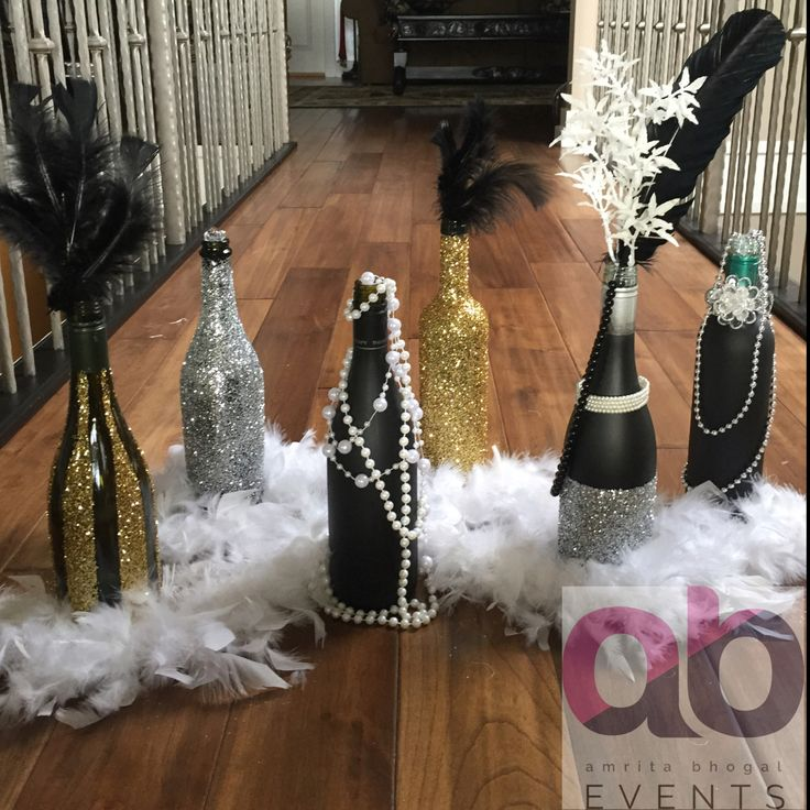 Decorative Bottles : A Great Gatsby Theme Decor. Sparkles