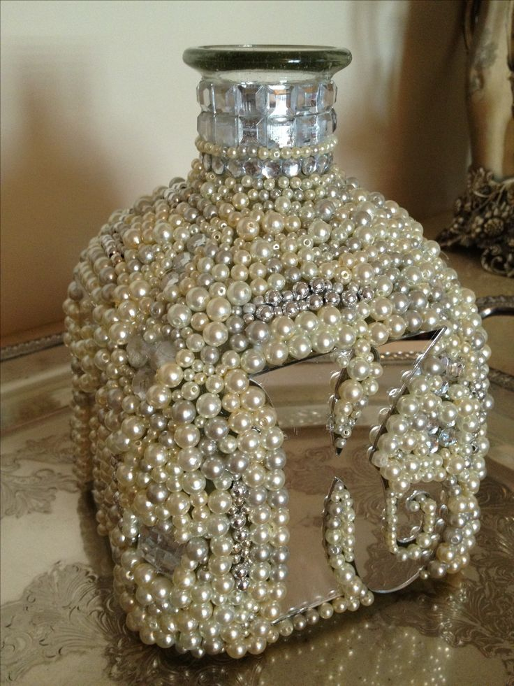 Bejeweled Patron bottle! So much fun to create.