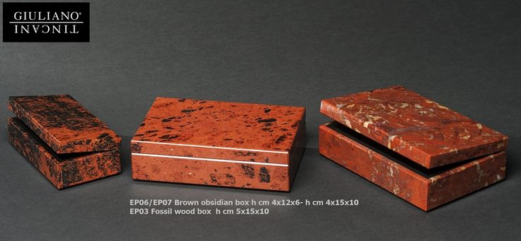Brown obsidian boxes