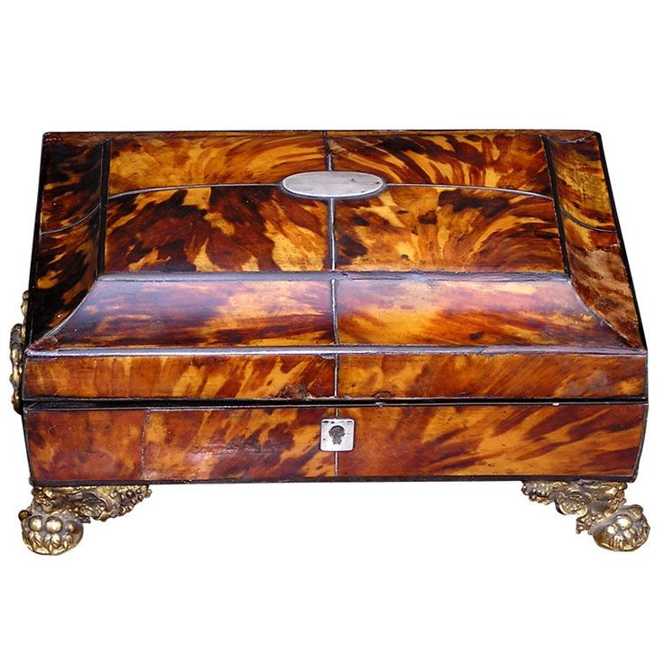 Decorative Boxes English Tortoise Shell Sewing Box