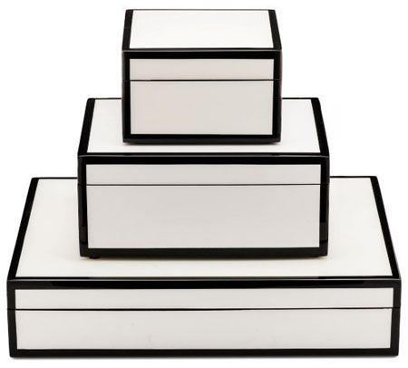 Luxury Designer White Stationery Gift Boxes Desk Organizers, with a shiny high g...