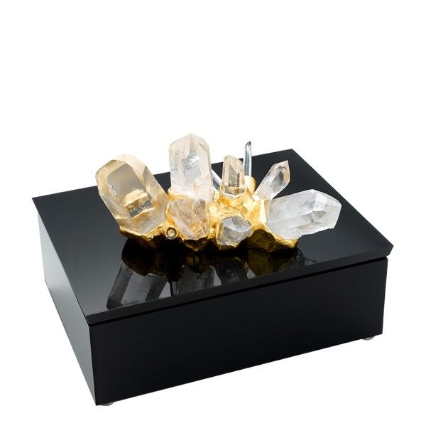 Rock Crystal w/ Gold on Black Lucite Box $2,250 Wishing is free !
