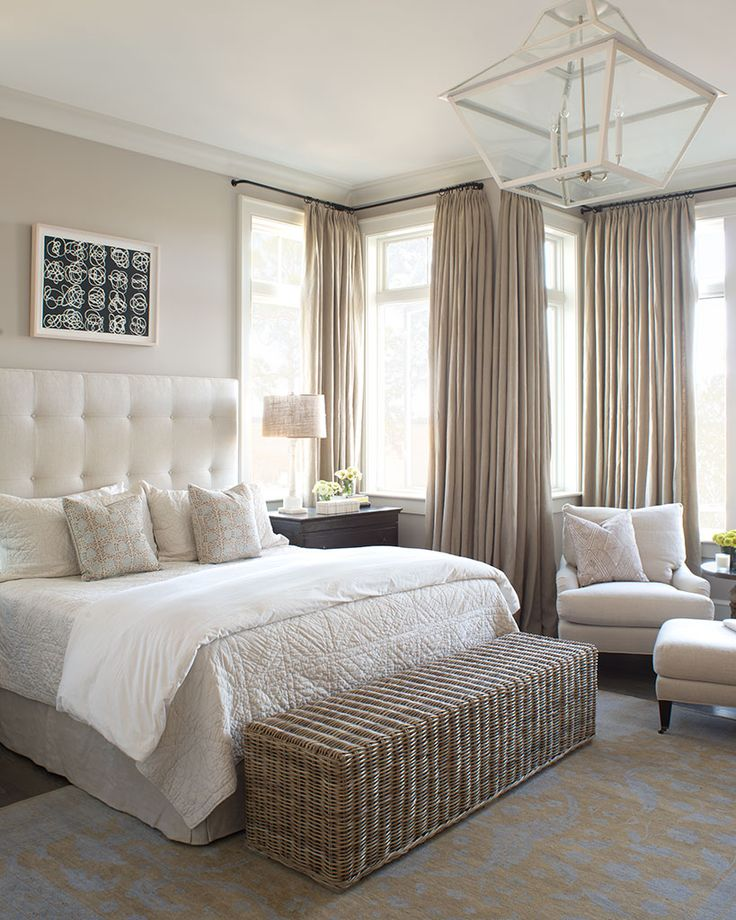 Furniture - Bedrooms : Beautiful bedroom #curtains really suite this ...