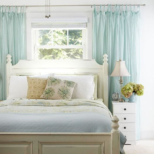 Furniture Bedrooms Curtains Behind Bed Bhg Decor Object