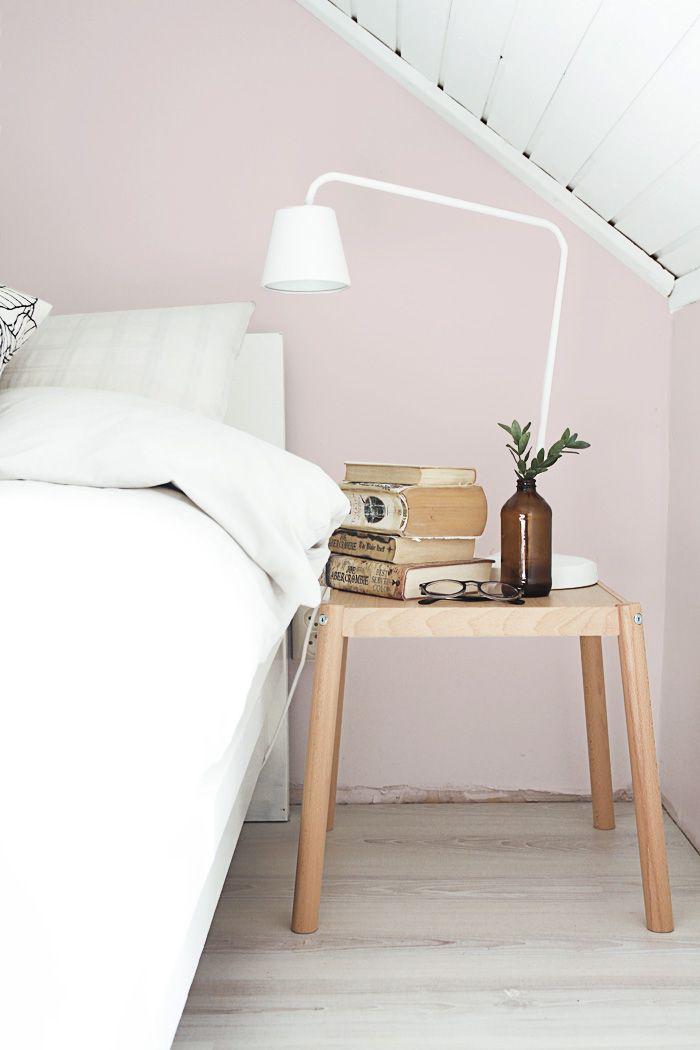 Pastel Pink Wall In Bedroom
