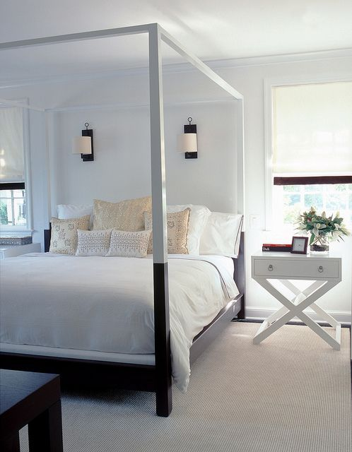 Furniture bedrooms sleek canopy bed bedroom d cor for Four poster headboards