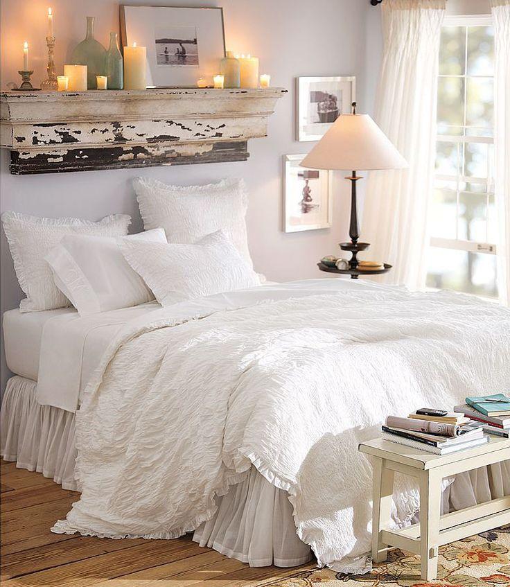 Bedrooms : White Cottage Bedroom...