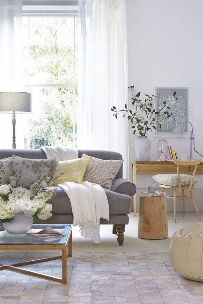 Furniture - Living Room : Love the gray sofa - Decor Object ...