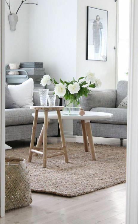Furniture Living Room Scandinavian Interior Grey Light Wood Whites Decor Object Your